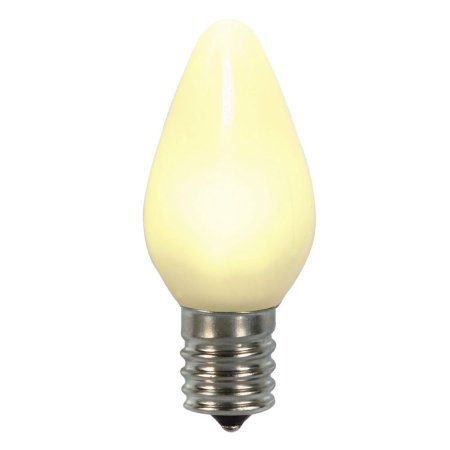 Opaque C7 LED Twinkle Bulbs - Warm White - 25 Pack | All American Christmas Co