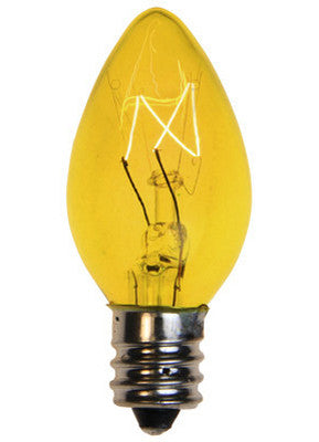 C7 Twinkle Lights - Yellow - 25 Pack | All American Christmas Co