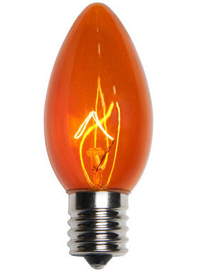 C9 Christmas Lights - Amber - 25 Pack | All American Christmas Co