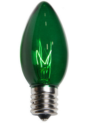C9 Christmas Lights - Green - 25 Pack