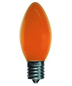 C9 Opaque Lights - Orange - 25 Pack | All American Christmas Co