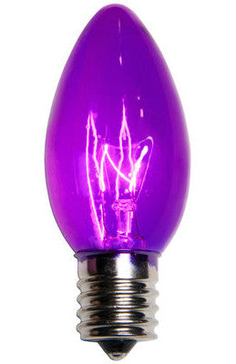 C9 Twinkle Lights - Purple - 25 Pack | All American Christmas Co