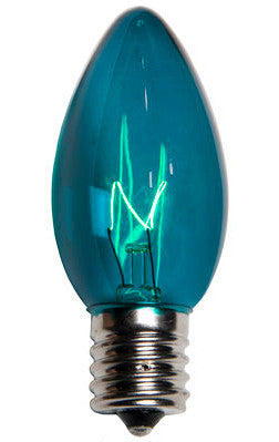 C9 Twinkle Lights - Teal - 25 Pack