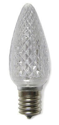 C9 LED Twinkle Bulbs - Pure White - 25 Pack | All American Christmas Co