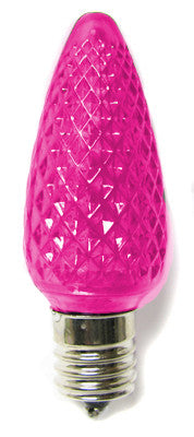 C9 LED Twinkle Bulbs - Pink - 25 Pack | All American Christmas Co