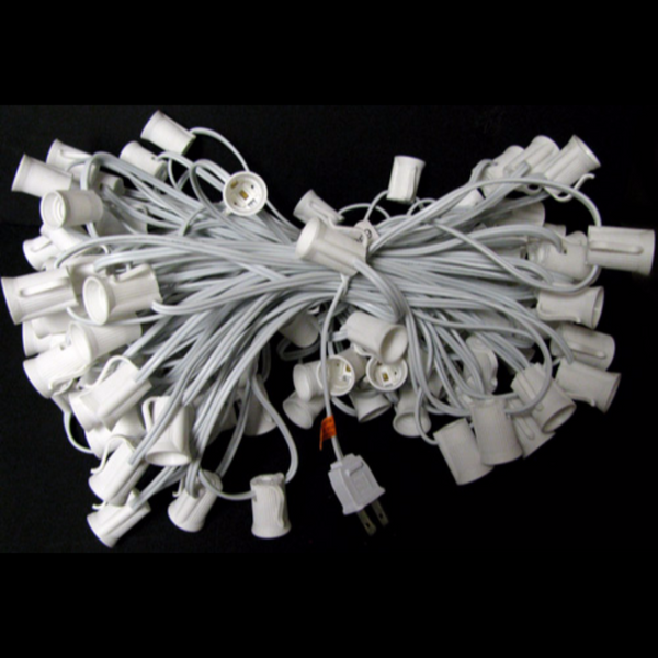 100' C9 Christmas Light String - White Wire | All American Christmas Co