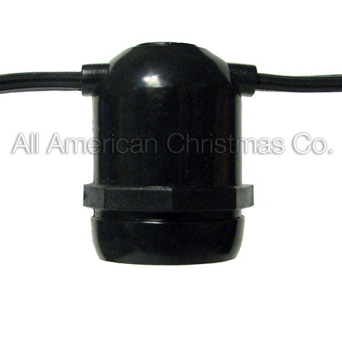 75' Commercial Light String - E-26 Molded Sockets | All American Christmas Co