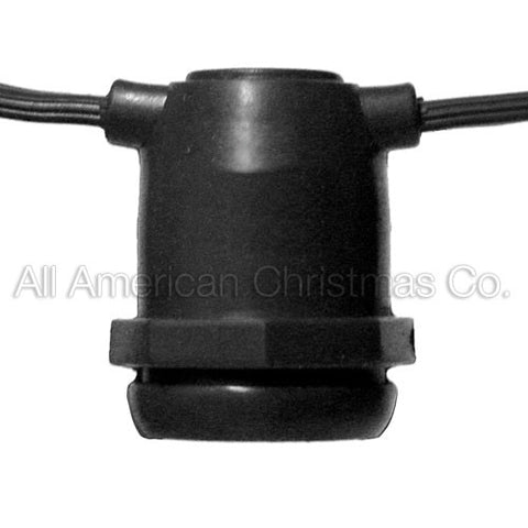 100' Commercial Light String - E-17 - Black Wire | All American Christmas Co