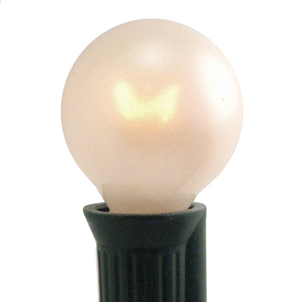 G30 Patio Lights - E-12 - Pearl White - 25 Pack | All American Christmas Co