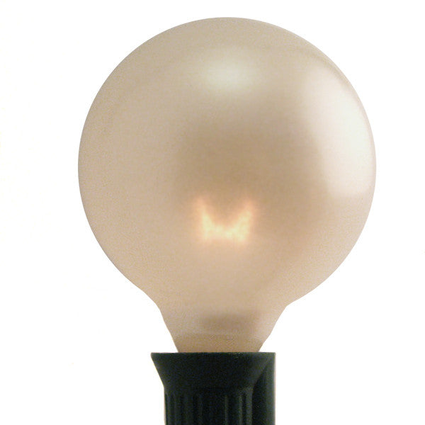 G50 Patio Lights - E-12 - Pearl White - 25 Pack | All American Christmas Co