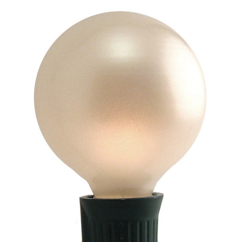 G40 Patio Lights - E-17 - Pearl White - 25 Pack | All American Christmas Co