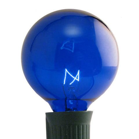 G50 Patio Lights - E-17 - Blue - 25 Pack