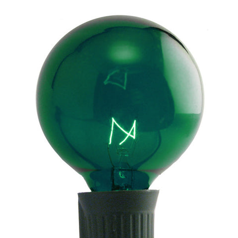 G50 Patio Lights - E-17 - Green - 25 Pack | All American Christmas Co