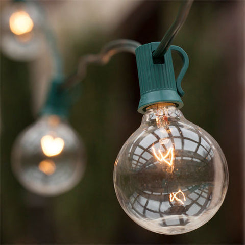 Commercial Patio Light String - G50 - E17 Base | All American Christmas Co