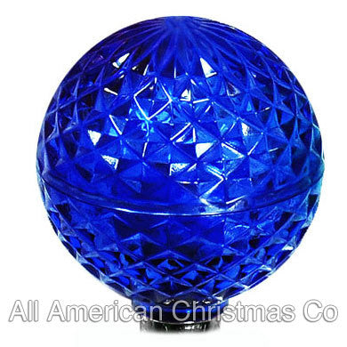 G40 LED Patio Lights - E-12 - Blue - 25 Pack | All American Christmas Co