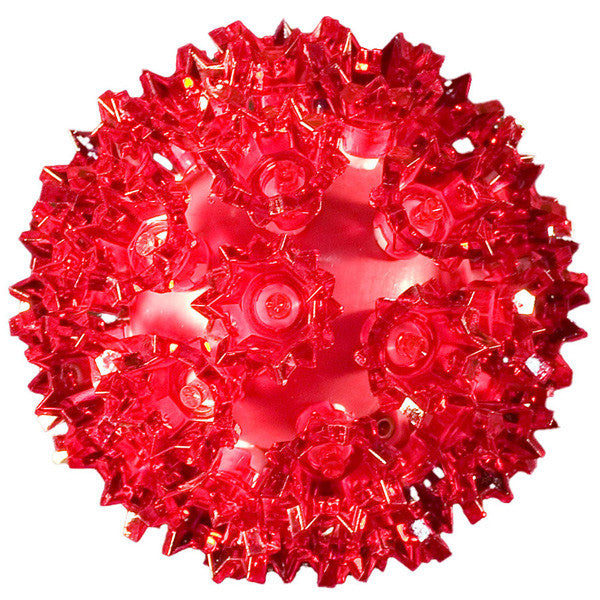 LED Starlight Sphere - 6 Inch - 50 Count - Red | All American Christmas Co