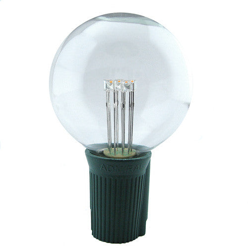 G50 LED Patio Lights - Glass Bulb - E-17 - Warm White - Single