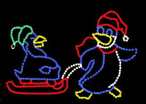 Penguin on Sled | All American Christmas Co