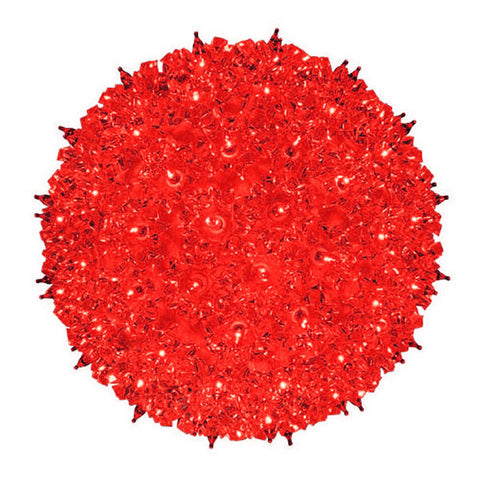 "7.5"" Red Starlight Sphere 