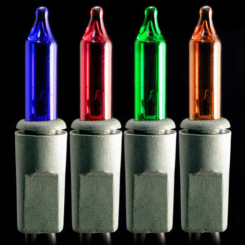 Multifunction Mini Lights - Multi Bulbs - Green Wire