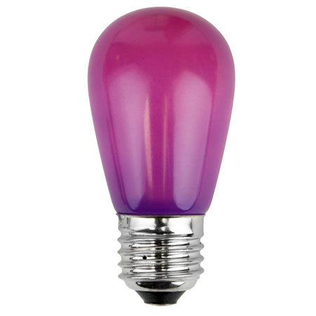 S14 Patio Lights - E-26 - Satin Purple - Case | All American Christmas Co