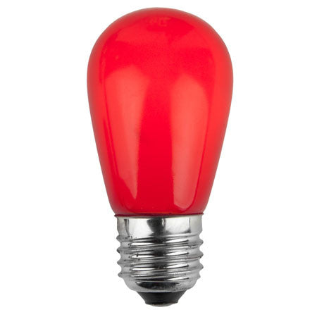 S14 Patio Lights - E-26 - Ceramic Red - Case