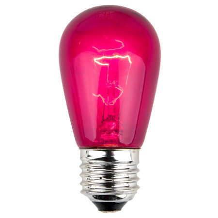 S14 Patio Lights - E-26 - Fuchsia - Case