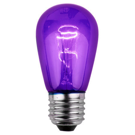 S14 Patio Lights - E-26 - Purple - Case | All American Christmas Co