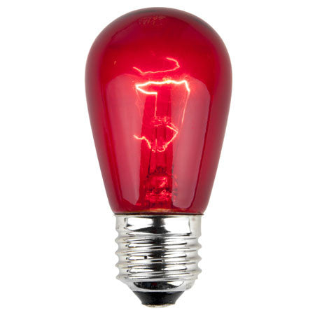 S14 Patio Lights - E-26 - Red - Case