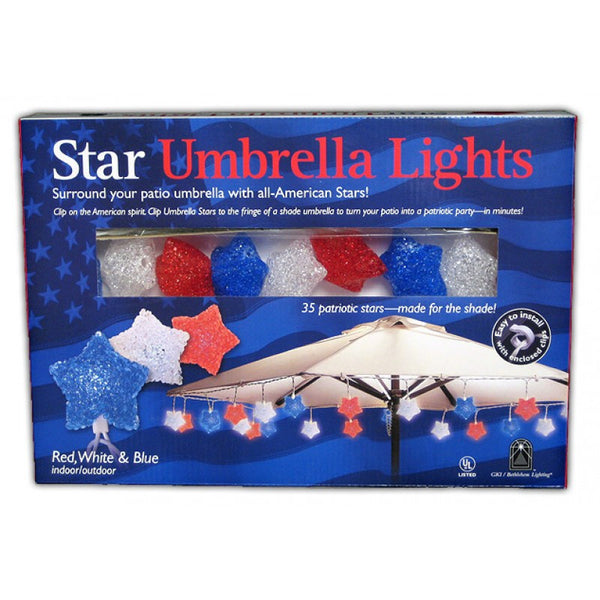 Patriotic Umbrella Star Lights