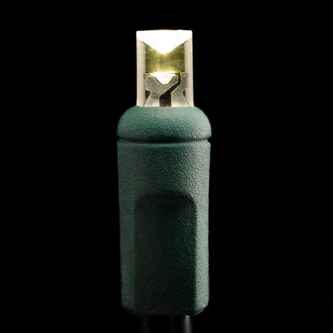 Wide Angle 5mm LED Lights - 50 count - Warm White - Green Wire