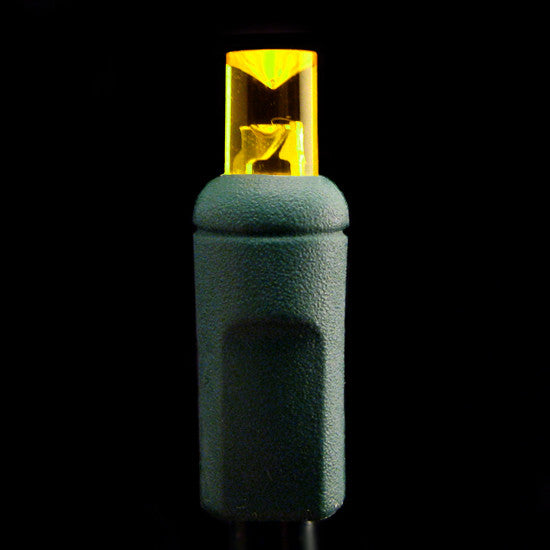 Wide Angle 5mm LED Lights - 50 count - Yellow - Green Wire