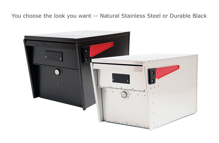 Belaire Series Stainless Steel Locking Mailboxes Made in the USA