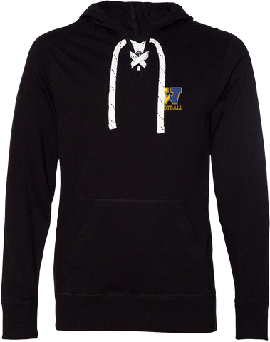 Black Hockey Lace Hood