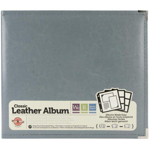 Classic Leather 3 Ring Album - Charcoal