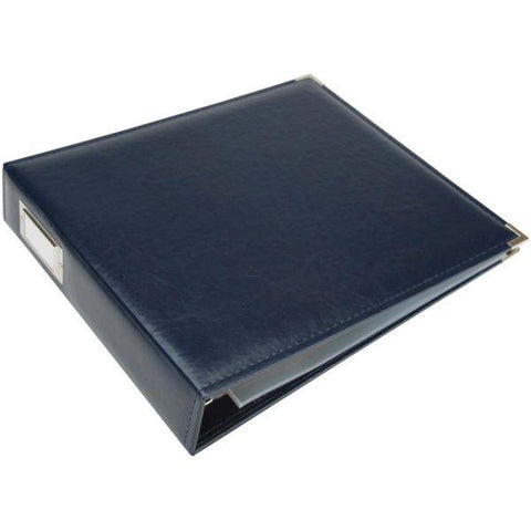 Classic Leather 3 Ring Album - Navy