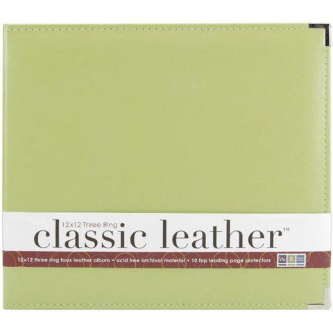 Classic Leather 3 ring Album - Kiwi