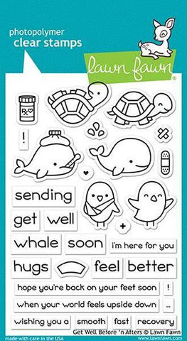 Clear Stamps - Get well Before 'n Afters