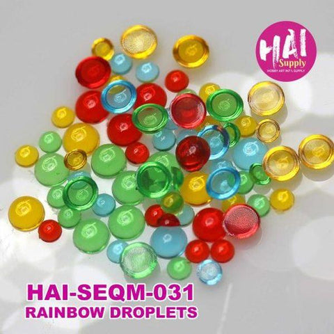Sequins - Rainbow Clear Droplets