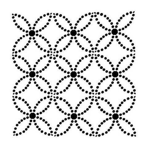 12x12 Stencil - Dotted Rings