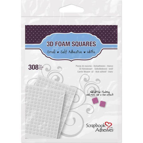 3D Self-Adhesive Foam Squares 308/Pkg - white small