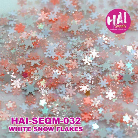 Sequins - White Snowflakes