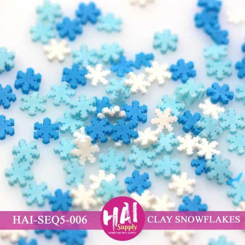 Sequins - Snowflakes (Clay)