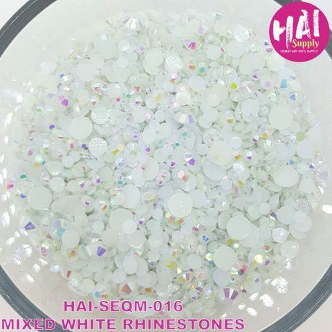 Sequins - Mix White Rhinestones