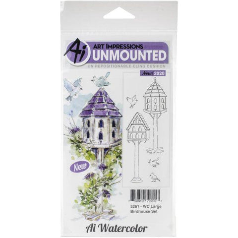 Watercolour Stamps - Large Birdhouse Set