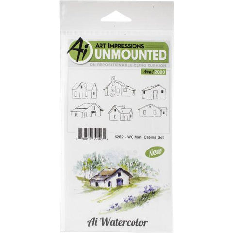 Watercolour Stamps - Mini Cabins Set