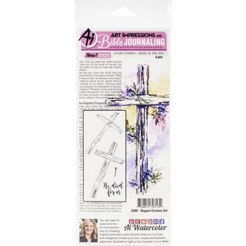 Bible Journaling Stamps - Rugged Crosses Set