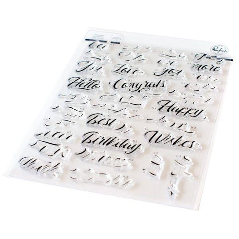 Clear Stamps - Layered Scripty Words