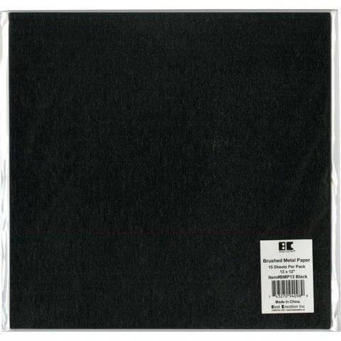 Brushed Metal Cardstock - Black