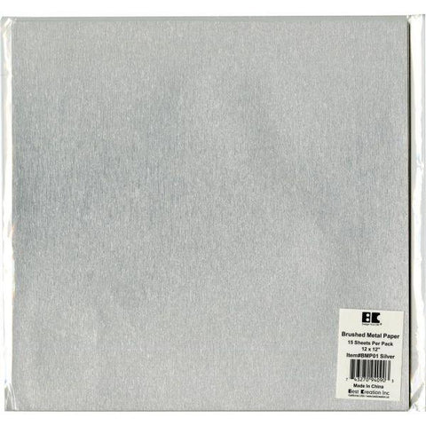 Brushed Metal Cardstock - Silver